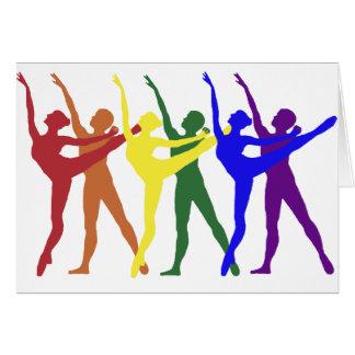 Rainbow of Dancers Card