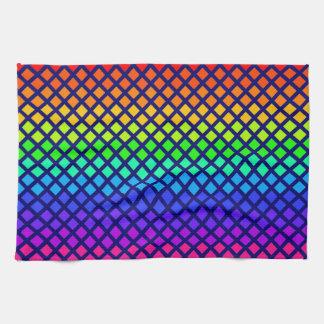 Rainbow of Diamonds custom kitchen towels