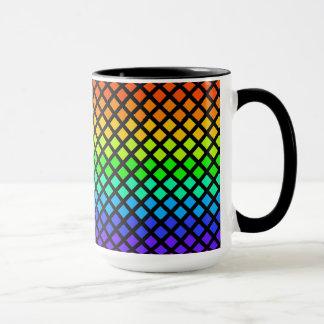 Rainbow of Diamonds mug - choose style & color