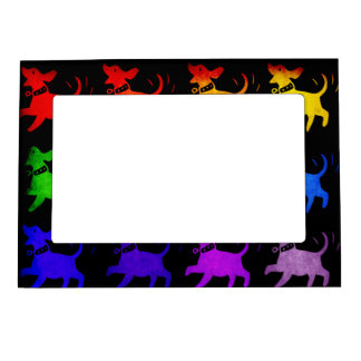 Rainbow Of Dogs Magnetic Picture Frame