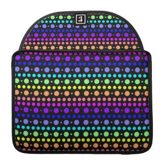 Rainbow of Dots Macbook sleeve