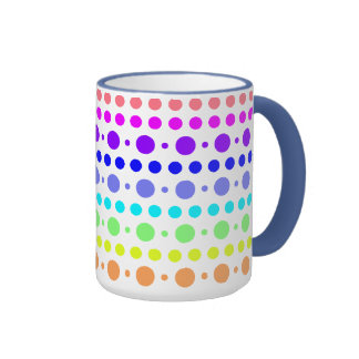 Rainbow of Dots mug - choose your style & color
