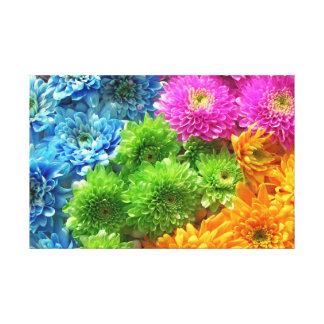 rainbow of flowers canvas