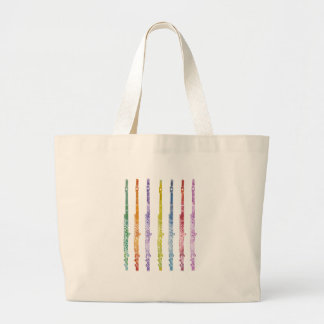Rainbow of Flutes Canvas Bags