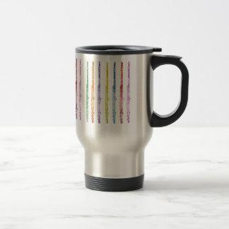 Rainbow of Flutes 15 Oz Stainless Steel Travel Mug