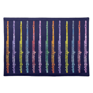Rainbow of Flutes Place Mats