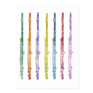 Rainbow of Flutes Postcard