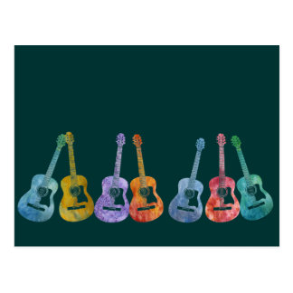 Rainbow of Guitars Postcard
