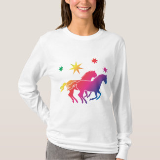 Rainbow of horses T-Shirt