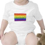 Rainbow of Independence by Billy Kakuki Baby Bodysuits
