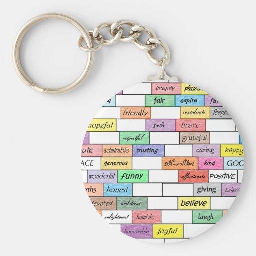 Rainbow of Inspirational Graffiti Keychain