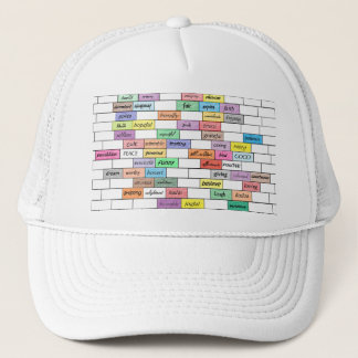 Rainbow of Inspirational Graffiti Mesh Hat