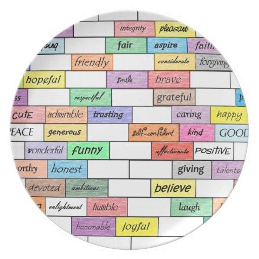 Rainbow of Inspirational Graffiti Plate