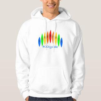Rainbow of Kayaks Hooded Sweatshirt