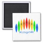 Rainbow of Kayaks Magnets