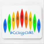 Rainbow of Kayaks Mouse Pad