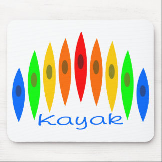 Rainbow of Kayaks Mouse Pad
