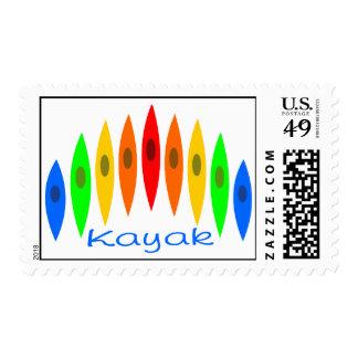 Rainbow of Kayaks Postage