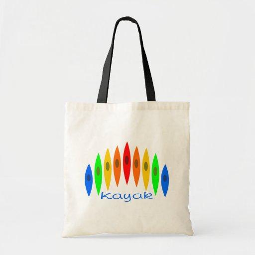 Rainbow of Kayaks Tote Bag
