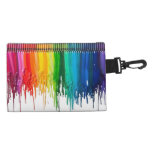 Rainbow of Melted Crayons Accessories Bag