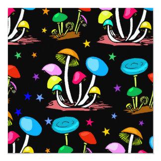 Rainbow Of Mushrooms Card