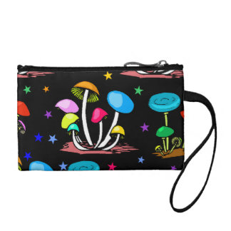 Rainbow Of Mushrooms Change Purse