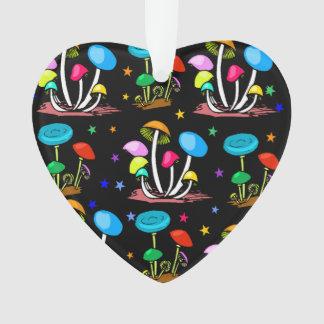 Rainbow Of Mushrooms Ornament
