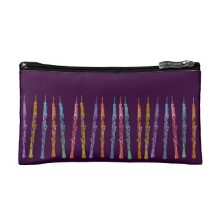 Rainbow of Oboes Makeup Bag