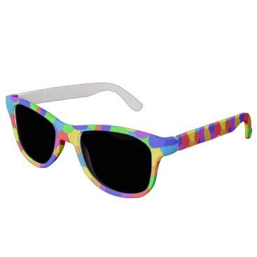 Beach Themed Rainbow of Orbs Sunglasses