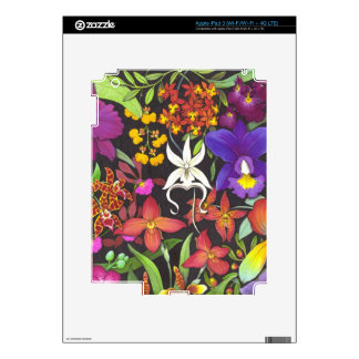 Rainbow of Orchid Flowers Zazzle Skin Decals For iPad 3