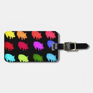 Rainbow Of Piggies Bag Tag