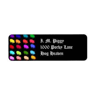 Rainbow Of Piggies Label