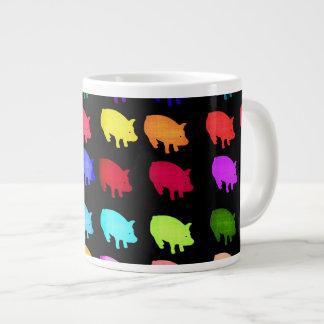 Rainbow Of Piggies 20 Oz Large Ceramic Coffee Mug