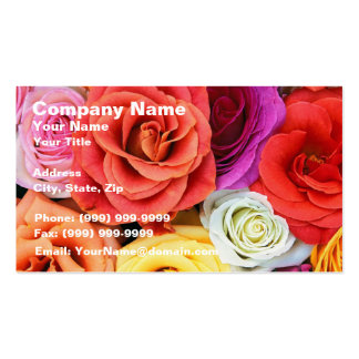 Rainbow of Roses Business Cards