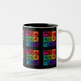 Rainbow of Roses Impressionist Mug