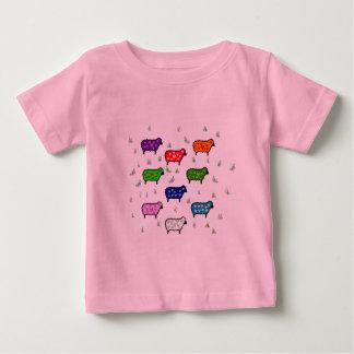Rainbow Of Sheep Baby T-Shirt