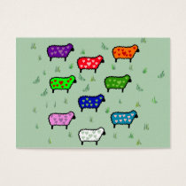 Rainbow Of Sheep Business Card