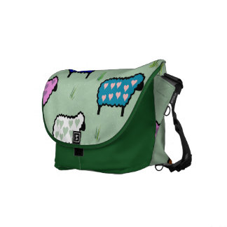 Rainbow Of Sheep Courier Bags