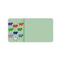 Rainbow Of Sheep Label