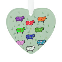 Rainbow Of Sheep Ornament