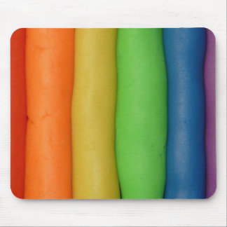 Rainbow of Squishy Dough Mouse Pad