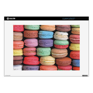 """Rainbow of Stacked French Macaron Cookies 15"""" Laptop Skins"""