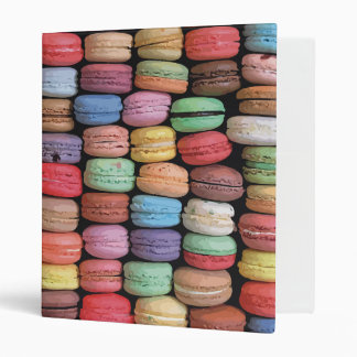 Rainbow of Stacked French Macaron Cookies Binder