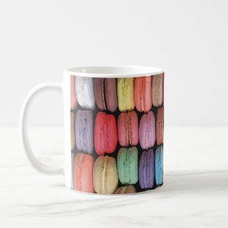 Rainbow of Stacked French Macaron Cookies Coffee Mug