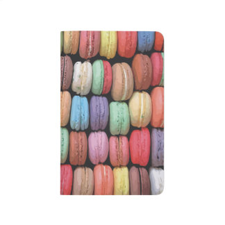 Rainbow of Stacked French Macaron Cookies Journal