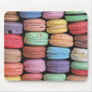 Rainbow of Stacked French Macaron Cookies Mouse Pad