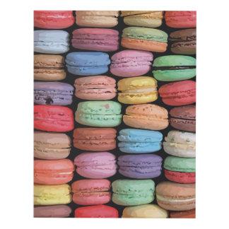 Rainbow of Stacked French Macaron Cookies Panel Wall Art