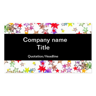Rainbow of Stars Double-Sided Standard Business Cards (Pack Of 100)