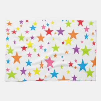 Rainbow of Stars Kitchen Towel