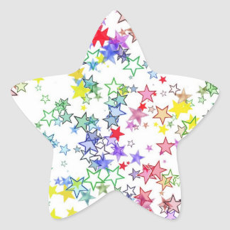 Rainbow of Stars Star Sticker